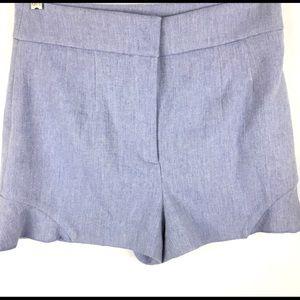 Zara Women's Shorts Light Blue Flat Front Sz L